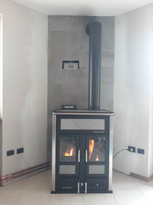 Termostufa Cucina A Legna.Stufa Klover Bi Fire Mid Stufa A Legna Pellet Thermo